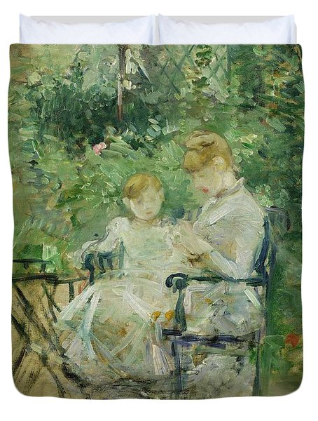 In The Garden Duvet Cover by Berthe Morisot