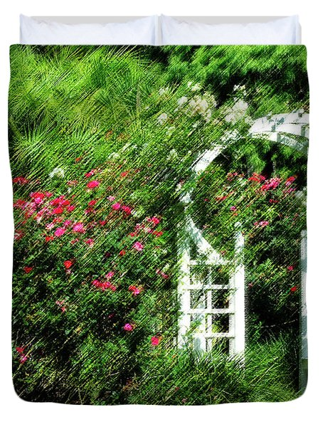In The Garden Duvet Cover by Carolyn Marshall