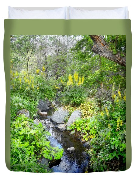 Duvet Cover featuring the photograph In The Garden - Landscape Photography by Ann Powell