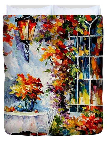 In The Garden Duvet Cover by Leonid Afremov