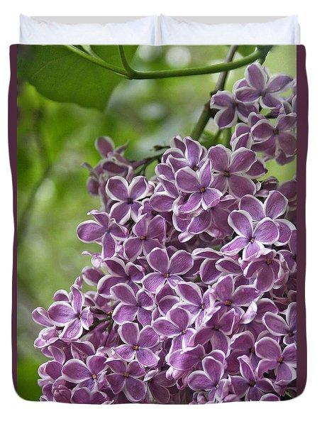 In The Garden. Lilac Duvet Cover by Ben and Raisa Gertsberg