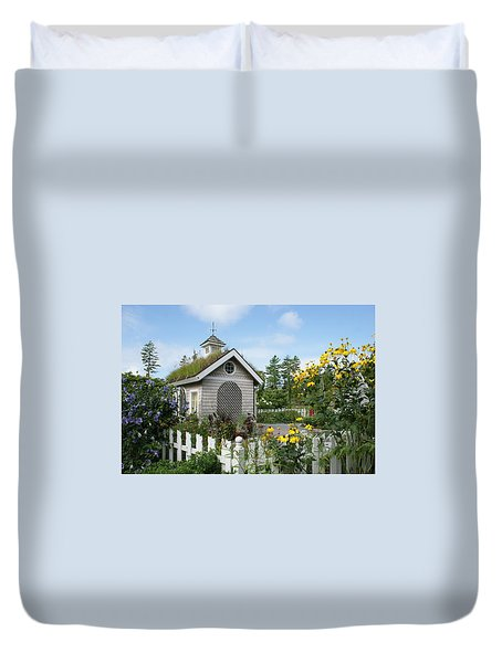In The Garden Duvet Cover by Lois Lepisto