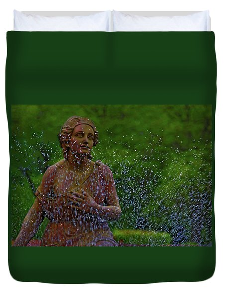 Duvet Cover featuring the photograph In The Garden by Rowana Ray
