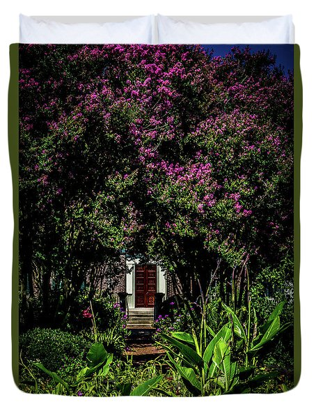 Duvet Cover featuring the photograph In The Garden - The Hermitage by James L Bartlett