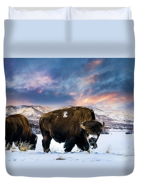 In The Grips Of Winter Duvet Cover