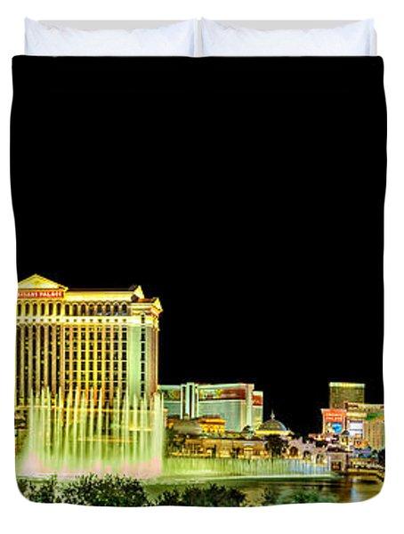 In The Heart Of Vegas Duvet Cover by Az Jackson