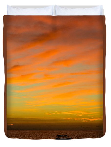 In The Heat Of The Night Duvet Cover by Rene Triay Photography