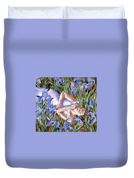 In The Iris Bed  Duvet Cover