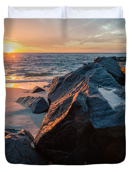In The Jetty Duvet Cover