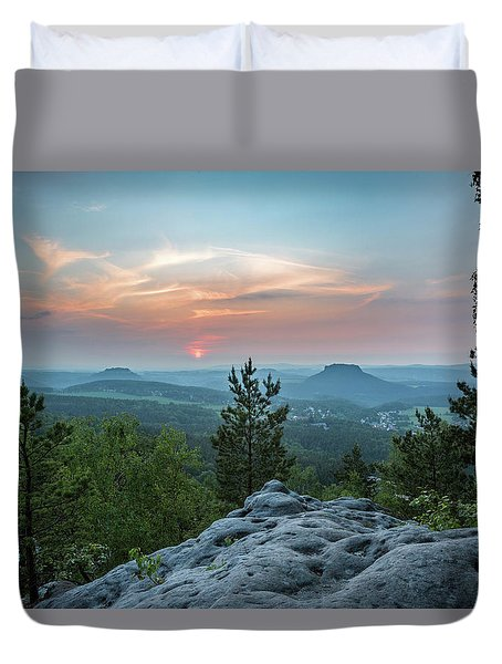 In The Land Of Mesas Duvet Cover