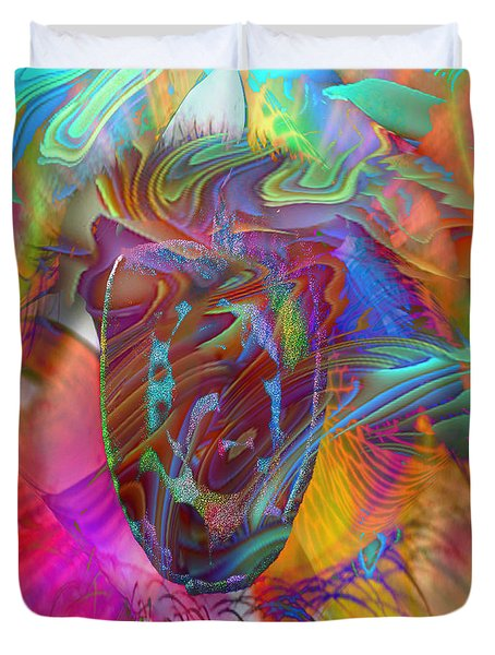 Duvet Cover featuring the mixed media In The Light by Kevin Caudill