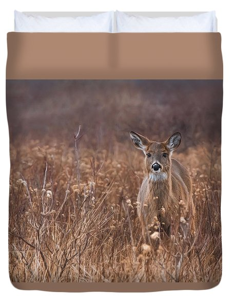 Duvet Cover featuring the photograph In The Meadow by Robin-Lee Vieira