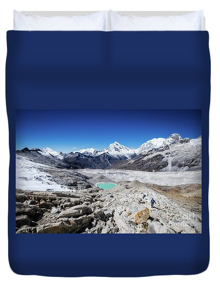 In The Middle Of The Cordillera Blanca Duvet Cover