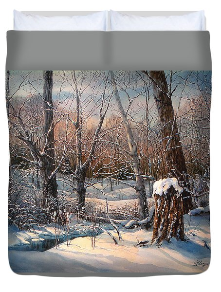 In The Midst Of Winter Duvet Cover