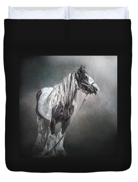 Duvet Cover featuring the photograph In The Misty Moonlight by Brian Tarr