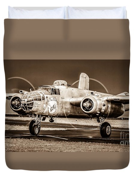 In The Mood - B-25 II Duvet Cover