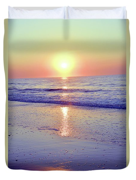 In The Morning Light Everything Is Alright Duvet Cover