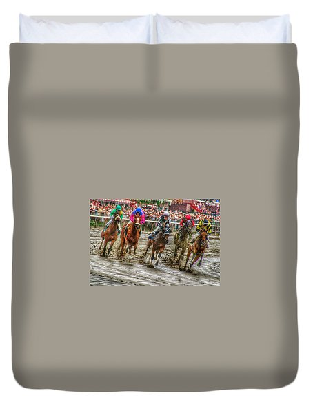 In The Mud Duvet Cover