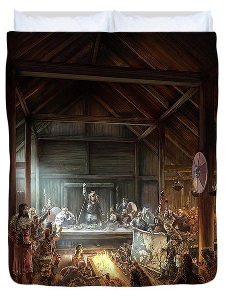 In The Name Of Odin Cover Art Duvet Cover