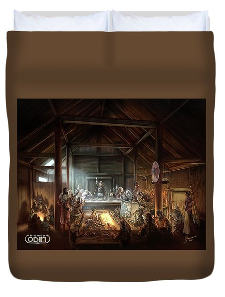 In The Name Of Odin Cover Art Duvet Cover