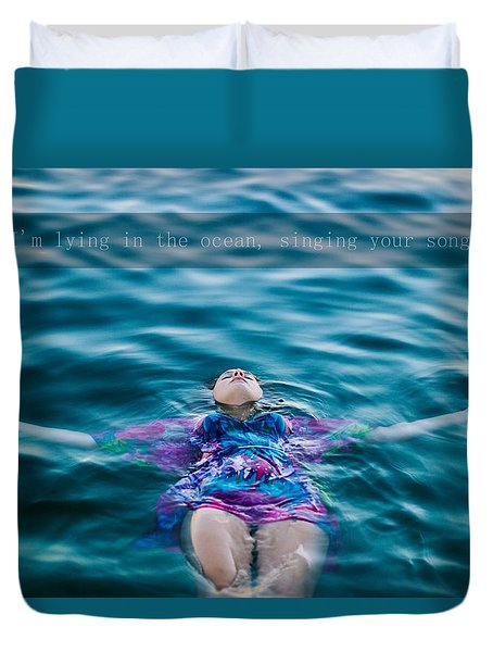In The Ocean Duvet Cover