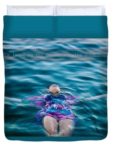 In The Ocean Duvet Cover by Irma Vargic