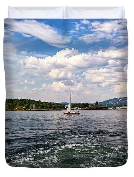 In The Oslo Fjord Duvet Cover