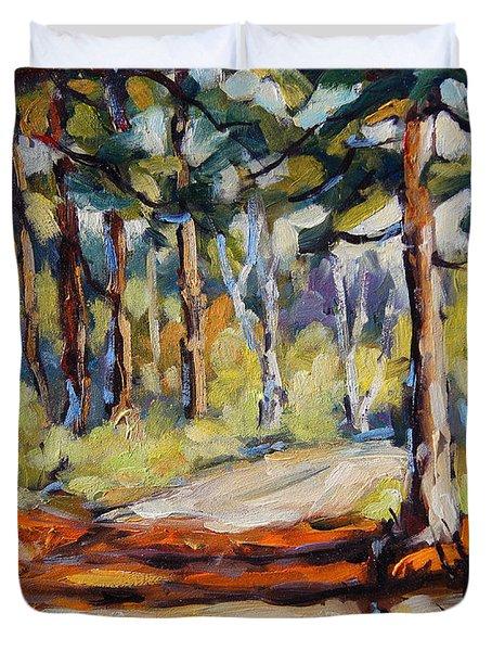 In The Pines Orginal Art By Prankearts Duvet Cover