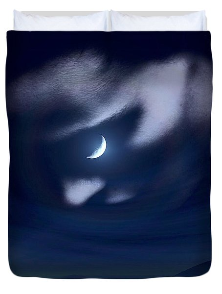 In The Quiet Of Your Mind Blue Duvet Cover by ISAW Gallery