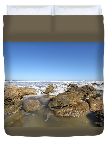 In The Rocks Duvet Cover