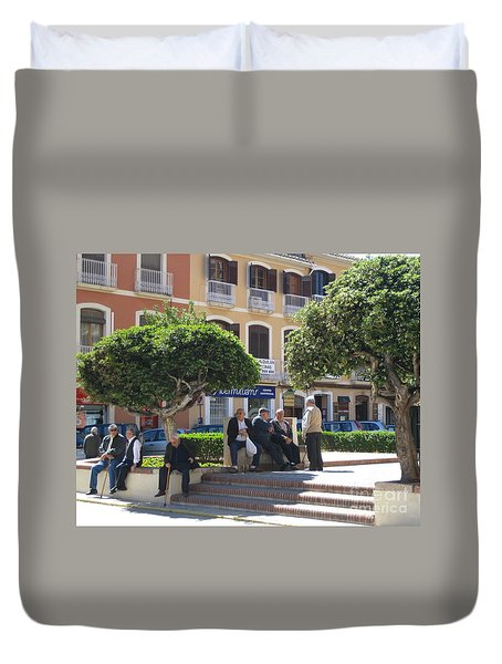 Duvet Cover featuring the photograph In The Shade by Suzanne Oesterling