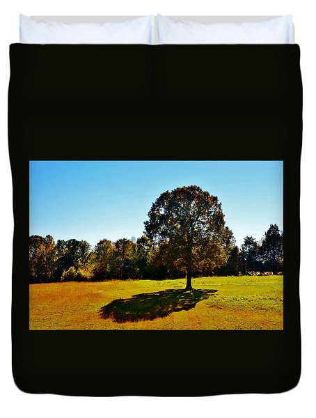 In The Shadow Of A Tree Duvet Cover