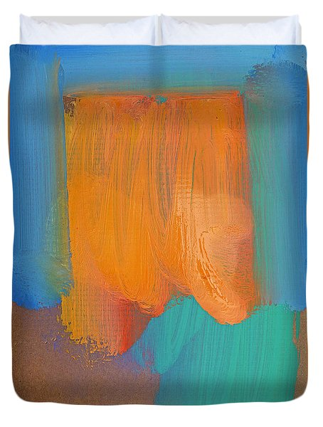 In The Souk Duvet Cover by Charles Stuart