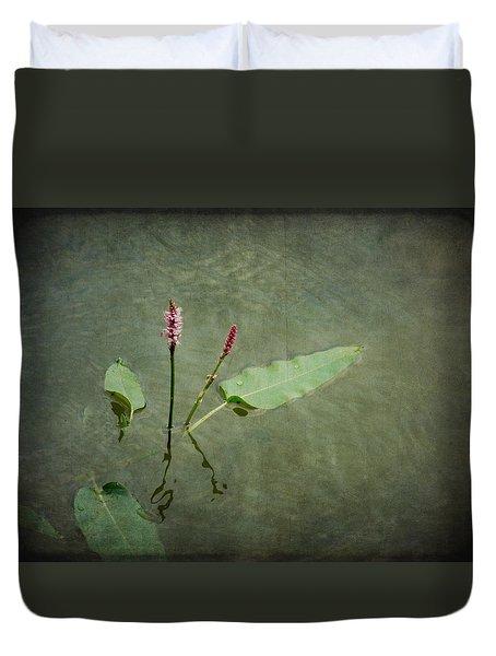 In The Stillness... Love Whispers My Name Duvet Cover
