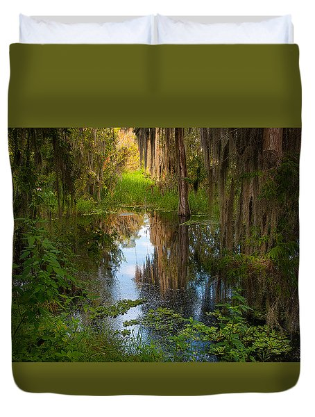 In The Swamp Duvet Cover by Carolyn Dalessandro