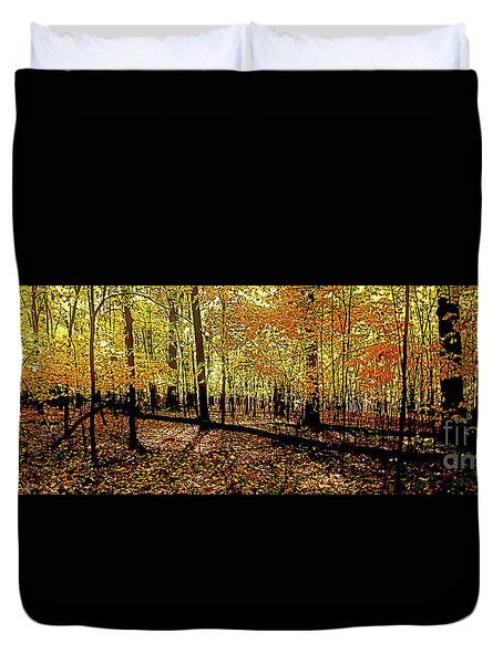 In The The Woods, Fall  Duvet Cover