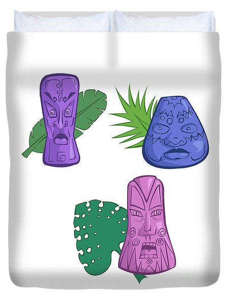 In The Tiki Room Duvet Cover