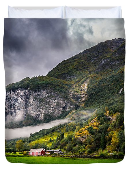In The Valley Duvet Cover by Dmytro Korol
