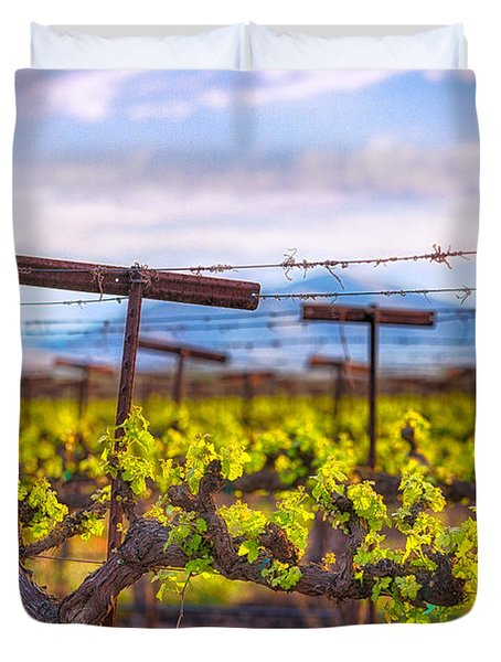 In The Vineyard Duvet Cover
