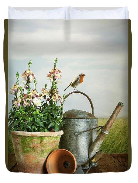 In The Vintage Garden Duvet Cover