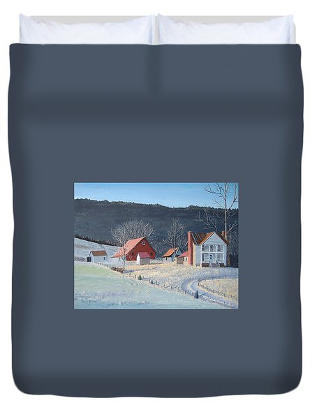 In The Winter Of My Life Duvet Cover by Norm Starks