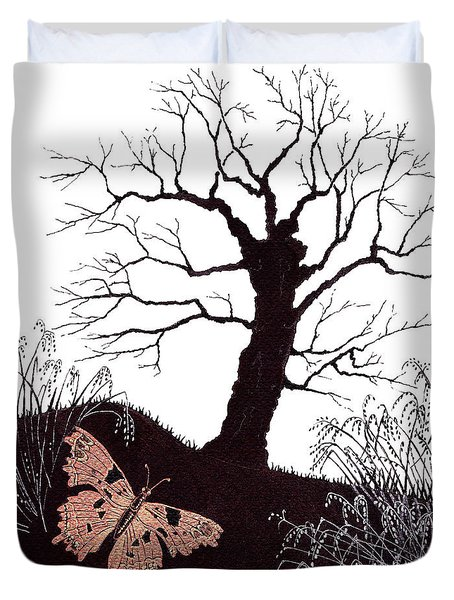 In The Winter Woods Duvet Cover by Stanza Widen