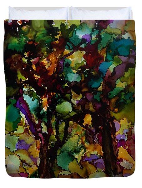 In The Woods Duvet Cover by Alika Kumar