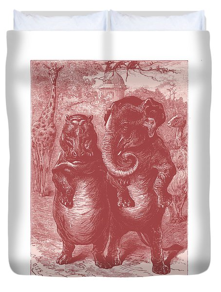 In The Zoo Duvet Cover by David Davies