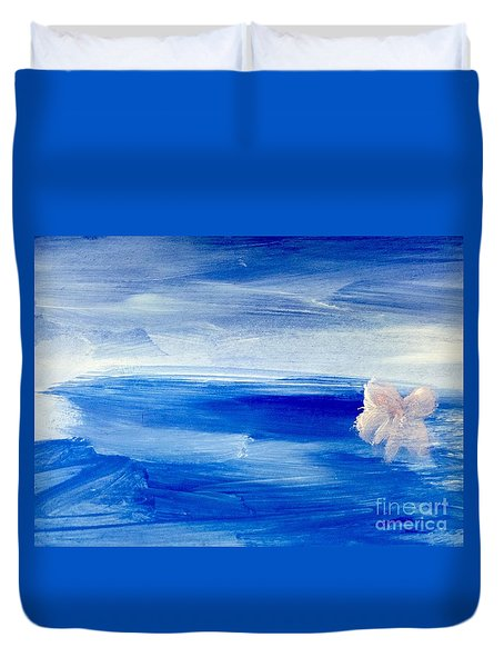Duvet Cover featuring the painting In This Sea Of Life by Trilby Cole