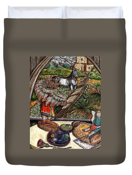 In Times Of Need Duvet Cover by Kim Jones