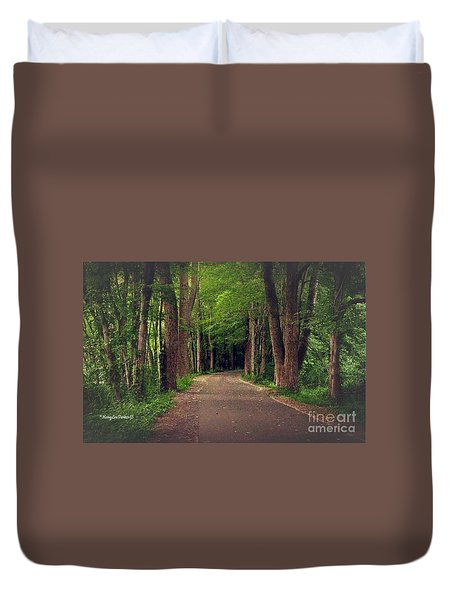 In To The   Deep Dark Woods  Duvet Cover