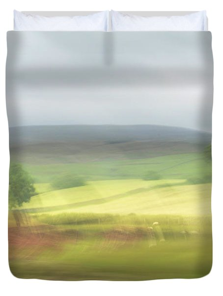 Duvet Cover featuring the photograph In Yorkshire 1 by Dubi Roman