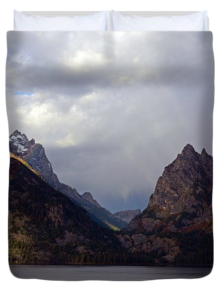 In Your Mountains I Find Strength Duvet Cover
