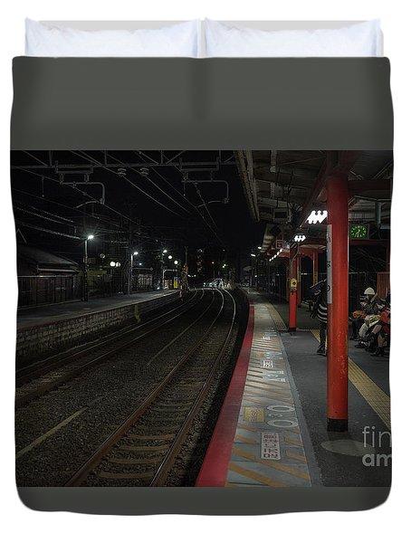 Inari Station, Kyoto Japan Duvet Cover